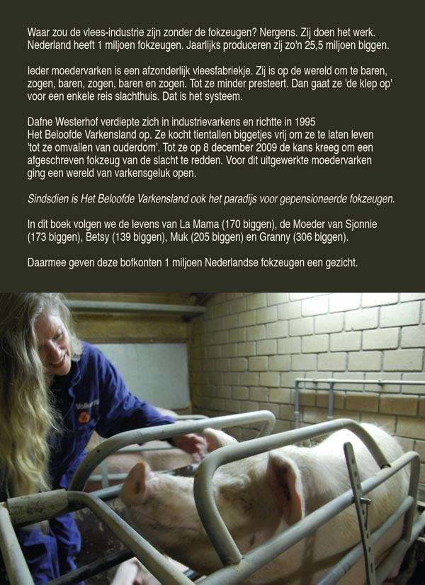 achterflap boek VIPS Very Important Pigs